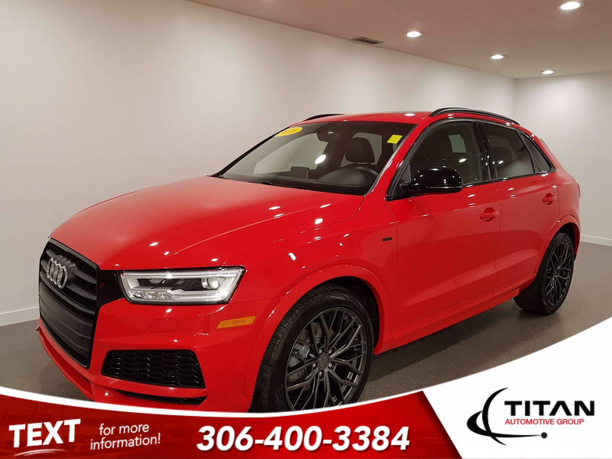 Audi Q3 Technik | 2.0L Turbo | S-Line | Quattro AWD | Heated Leather | Sunroof | Black Out Package Vehicle Details Image