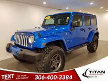 Jeep Wrangler Unlimited Sahara | 4x4 | Lift | Rims | 35 Tires | Navigation | Alpine | Bluetooth | Hydro Blue | Hitch Inventory Image