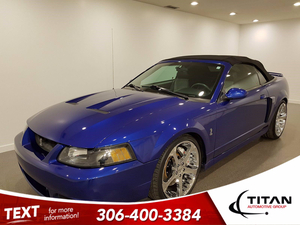 Ford Mustang SVT Cobra Convertible   6spd   V8   Supercharged   Sonic Blue   Leather   Alloys Vehicle Details Image